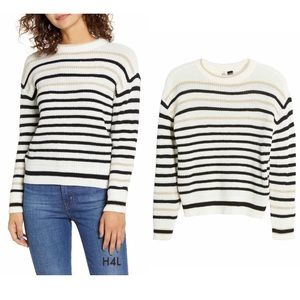NWT Striped Sweater with Metallic Accents